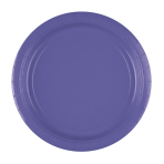 8 Plates New Purple Paper Round 22.8 cm