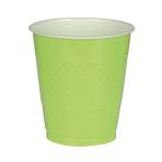 10 Cups Kiwi Plastic 355 ml