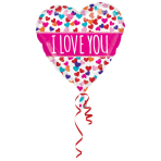 Colorblast Love You Pink Banner Foil Balloon S70 packaged