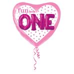 Multi Balloon Fun to Be O-N-E Girl Foil Balloon, P75, packed, 91x91 cm