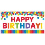 Foil Banner Birthday Accessories - Primary Rainbow 165 x 85.1 cm