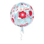 Orbz Meet Me in Paris Je t'aime Foil Balloon G20 Packaged 38x 40 cm