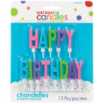13 Letter Candles Happy Birthday Height 5.3 cm
