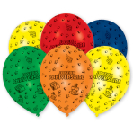 "6 Latex Balloons Joyeux Anniversaire 25.4 cm / 10"""