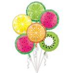 Bouquet Tropical Fruit Foil Balloons P75 Packaged