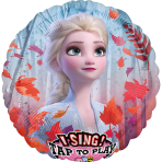 Jumbo Sing-A-Tune Frozen 2 Foil Balloon P75 packaged 71 cm x 71 cm