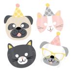 8 Masks Hello Pets Paper 16.7 x 23.2 cm