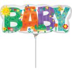 """Mini Shape """"Baby Banner Cute Icons"""" Foil Balloon, A30, bulk, 33 x 13cm"""