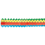 2 Garlands Mini Bright Rainbow Paper 8 x 200 cm