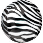 Orbz Zebra Print Foil Balloon G20 Packaged