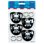 8 Eye Patches and Earrings Pirates Treasure (4 of each)