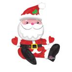 """Multi-Balloon """"Sitting Santa"""" Foil Balloon, A75, packed, 48x53 cm"""