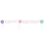 Letter Banner Happy Birthday Pastel Paper 150 x 13.8 cm
