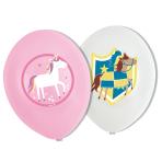 6 Latex Balloons Princess & Knight 27,5 cm/11'' 4C print