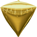 Diamondz Gold Foil Balloon G20Bulk 38 x 43 cm