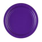 8 Plates Paper Purple 22.8 cm
