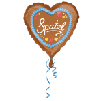 Standard Spatzl Foil Balloon Heart S40 Packaged 43 cm