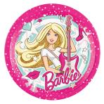 8 Plates Barbie Popstar Paper  23 cm