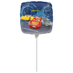 "9'' ""Cars 3"" Foil Balloon Square, A20, airfilled, 23cm"