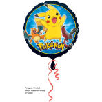 "Standard ""Pokémon Group"" Foil Balloon Round, S60, packed, 43 cm"