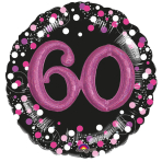 Multi Balloon Sparkling Pink 60 Foil Balloon P75 Packaged 81 x 81 cm