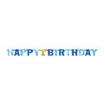Letter Banner 1st Birthday Blue Foil 227.3 x 15.8 cm