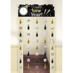 Door Curtain Happy New Year Plastic 195.5 x 99 cm