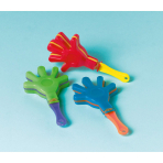 12 Mini Hand Clappers Plastic 8.6 x 4.6 cm