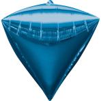 Diamondz Blue Foil Balloon G20Bulk 38 x 43 cm