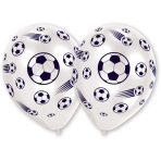 8 Latex Balloons Soccer ThemesAll Over Print 25.4 cm/10''