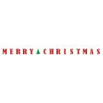 Letter Banner Merry Christmas Paper 365.7 x 12.7 cm