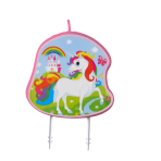 Character Candle Unicorn Height 9 cm