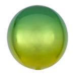 Ombré Orbz Yellow & Green Foil Balloon G20 bulk