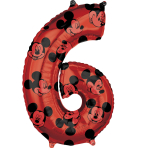 Mid Size Mickey Mouse Forever Number 6 Foil Balloon L27 packaged