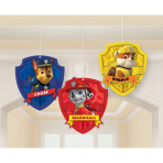 3 Honeycomb Decorations Paw   Patrol Paper 17 cm