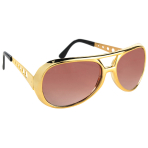 Fun Shades Vegas Gold Plastic 14.2 x 5 cm