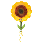 SuperShape Yellow Sunflower Foil Balloon P35 Packaged 53 x 73 cm