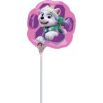 "Mini Shape ""Paw Patrol Skye & Everest"" Foil Balloon, A30, bulk"