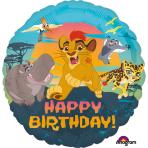 "Standard ""Lion Guard Happy Birthday"" Folienballon Rund, S60, verpackt, 43cm"