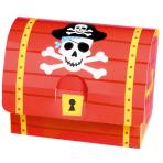 8 Favour Boxes Pirates Map Paper 8.2 x 10.7 x 6.3 cm