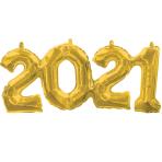 Phrase Block 2-0-2-1 Gold Foil Balloon G40 53cm x 22cm