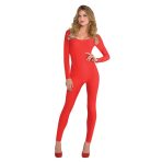 Women's Catsuit Red Size M/L