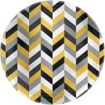 8 Plates Modern Metallic roundmetallic paper 26,7cm