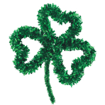 Open Shamrock Decoration Tinsel & Foil 35 x 27 cm