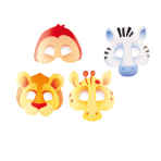 8 Masks Jungle Animals Paper 16.7 x 23.2 cm