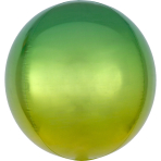 Ombré Orbz Yellow & Green Foil Balloon G20 packaged