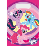 8 Party Bags My Little Pony - 2017 Plastic 23.4 x 16.2 cm