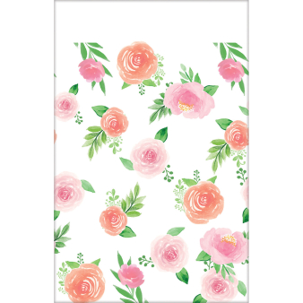 Tablecover Floral Baby Paper 137 x 259 cm