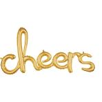 Script Phrase `Cheers` Gold