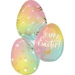 SuperShape Ombré Easter Eggs Foil Balloon P35 packaged 63 cm x 88 cm
